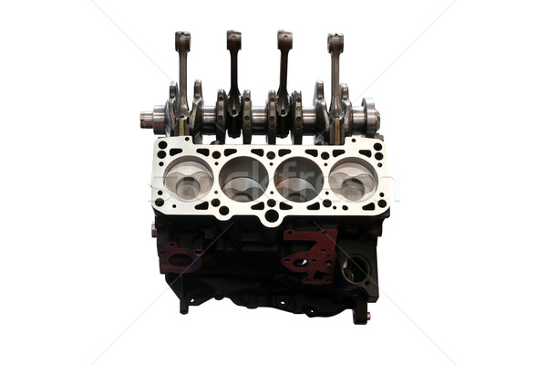 car engine and pistons isolated on white background  Stock photo © goce