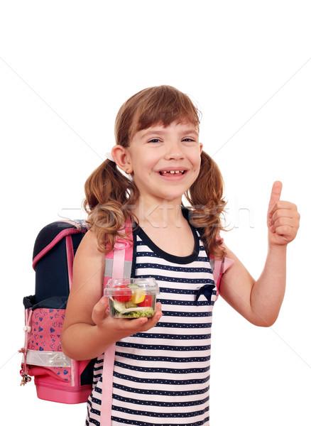 Felice bambina sani pranzo scuola Foto d'archivio © goce