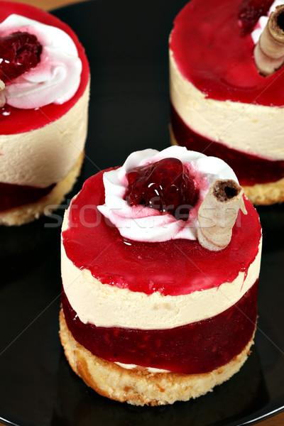 sweet raspberry cake dessert Stock photo © goce