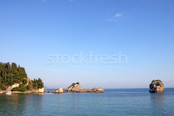 Tengerpart nyár évszak égbolt víz tenger Stock fotó © goce