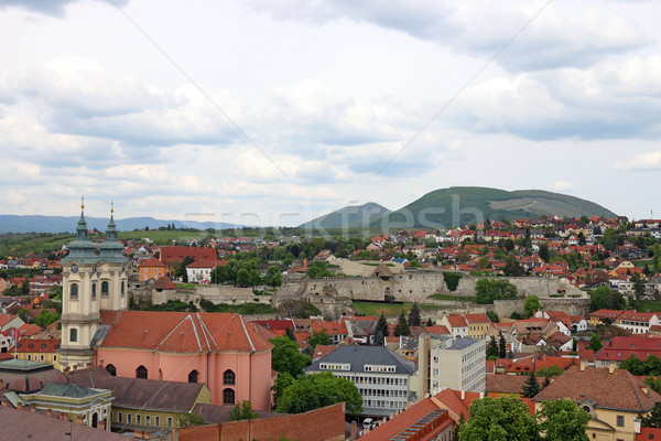 fortress Eger Hungary cityscape Stock photo © goce