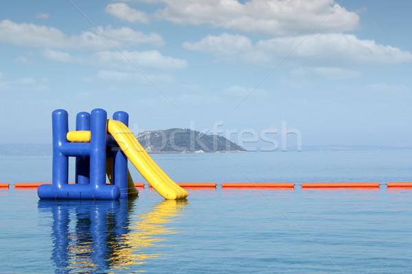Летние каникулы сцена Водная горка морем лет путешествия Сток-фото © goce