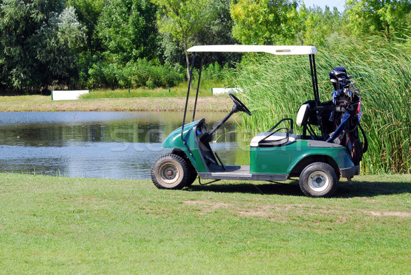 electric buggy for golf Stock photo © goce