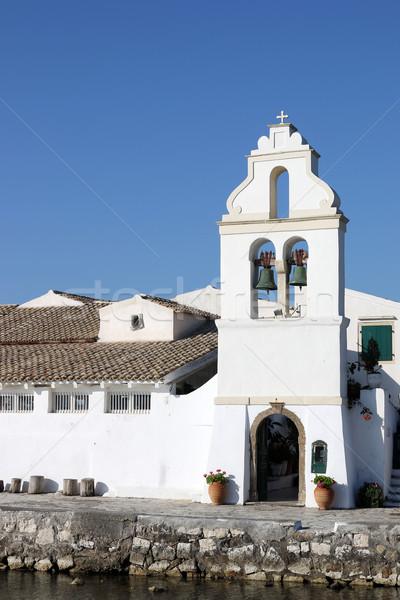 Mosteiro Grécia verão branco religião templo Foto stock © goce