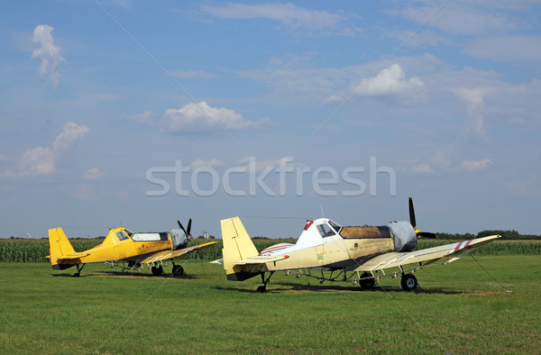crop duster airplanes on airfield Stock photo © goce