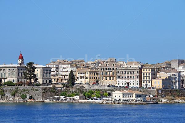 old Corfu town Greece summer season Stock photo © goce