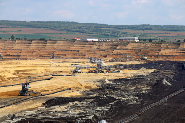 coal mine with excavators and machinery Stock photo © goce