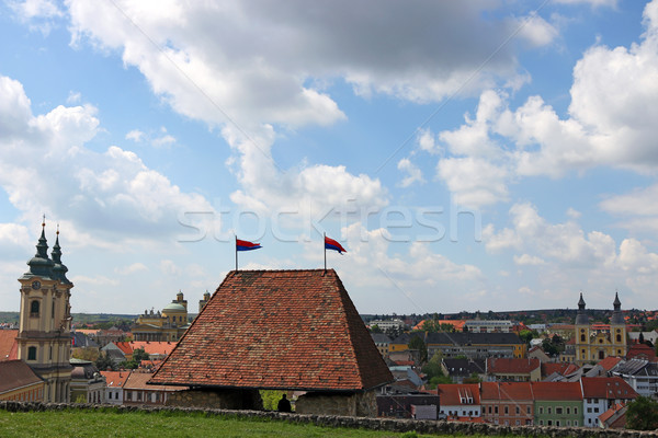 view from the fortress to the city of Eger Hungary Stock photo © goce