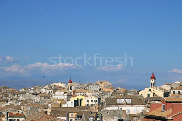 Vecchio città cityscape Grecia chiesa isola Foto d'archivio © goce