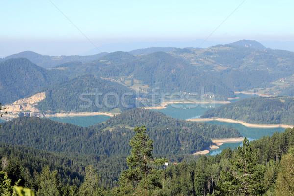 Göl dağ manzara Sırbistan su yaz Stok fotoğraf © goce