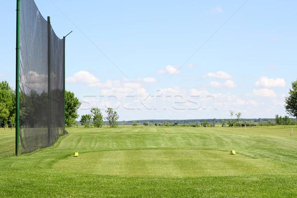 Stock fotó: Golfpálya · nyár · tájkép · tavasz · fű · golf