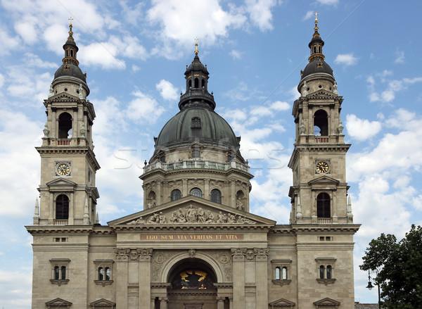 Aziz bazilika Budapeşte Macaristan işaret gökyüzü Stok fotoğraf © goce