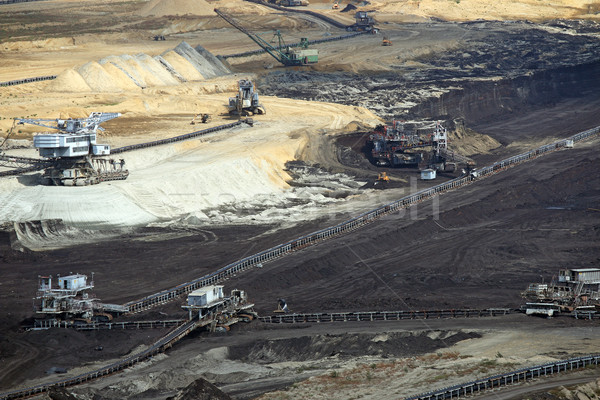 open pit coal mine with excavators and machinery Stock photo © goce