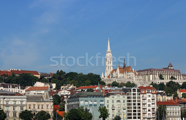 Matthias church and Fisherman towers Budapest cityscape Hungary Stock photo © goce