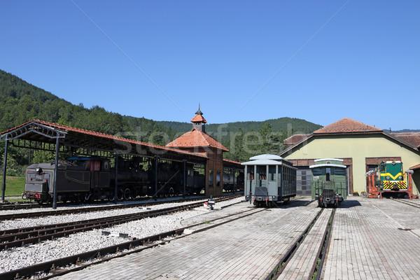 Tren istasyonu buhar dizel lokomotif eski dağ Stok fotoğraf © goce
