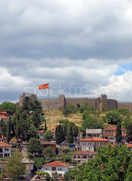 Fortaleza bandera paisaje urbano edificio ciudad viaje Foto stock © goce