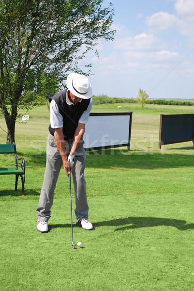 Golfozó égbolt golf zöld játék játék Stock fotó © goce
