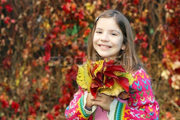 Heureux petite fille coloré portrait Photo stock © goce