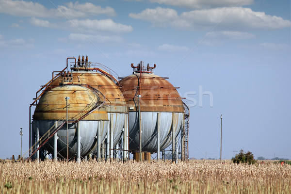 industry zone with gas tank Stock photo © goce