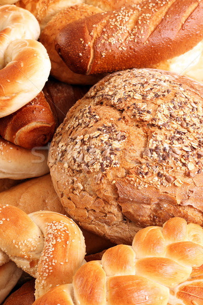 Stockfoto: Brood · voedsel · achtergrond · tarwe · donkere