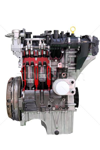 car engine isolated on white Stock photo © goce
