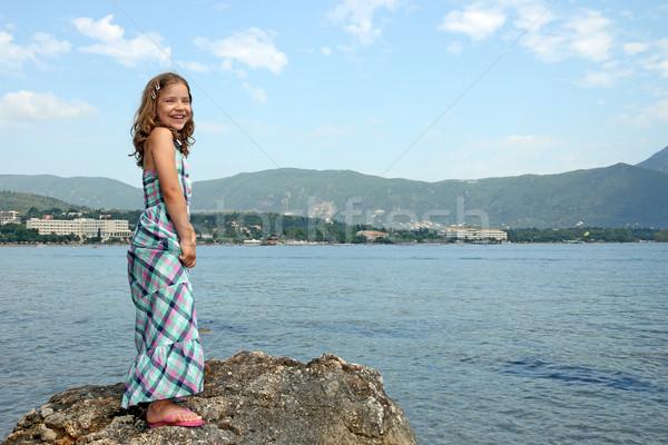happy little girl on vacation Corfu island Greece Stock photo © goce