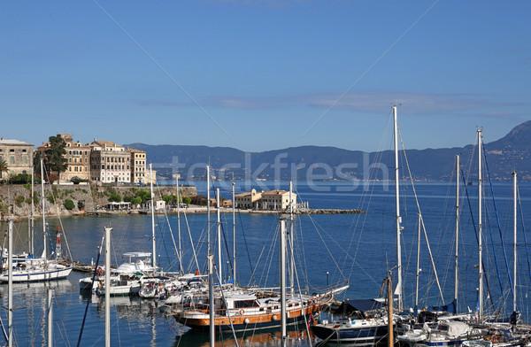 Città estate stagione cielo panorama mare Foto d'archivio © goce