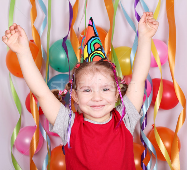 happy little girl birthday party Stock photo © goce