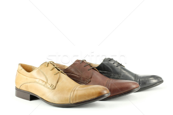 ocher brown and black man shoes  Stock photo © goce