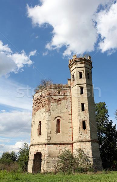 old ruined castle vintage landscape Stock photo © goce