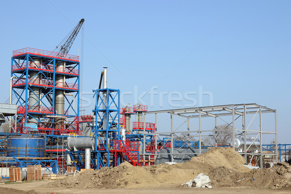 petrochemical plant heavy industry construction site Stock photo © goce