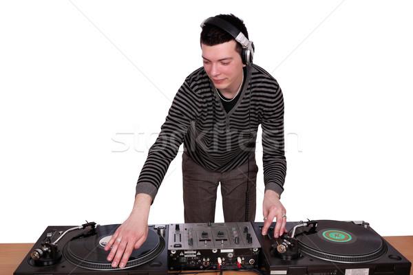 Spelen muziek leuk jonge studio record Stockfoto © goce