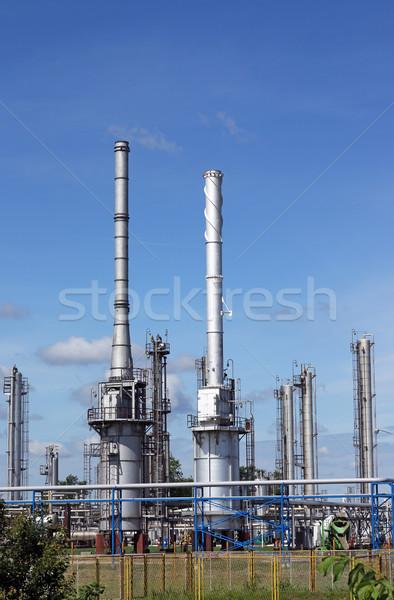 Olajfinomító ipar olaj ipari növény benzin Stock fotó © goce