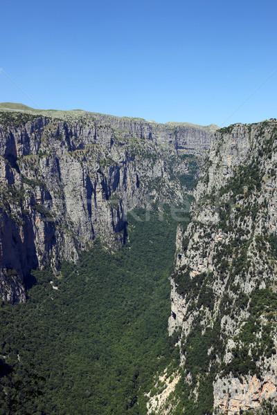Vikos gorge landscape Zagoria Pindos mountain Greece  Stock photo © goce