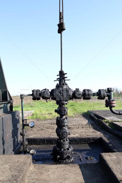Olaj szennyezés mező zöld erő gép Stock fotó © goce