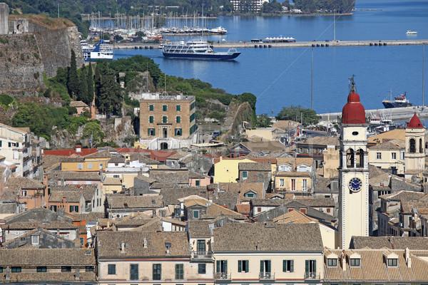 Starych miasta portu Cityscape niebo miasta Zdjęcia stock © goce