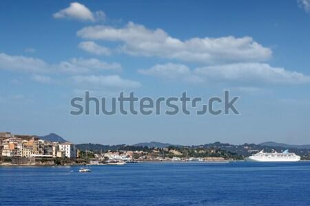 町 ポート クルーザー 船 水 建物 ストックフォト © goce