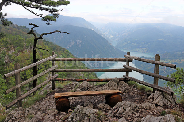 viewpoint Banjska stena Tara mountain Serbia Stock photo © goce
