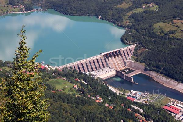 Centrale elettrica fiume Serbia acqua natura estate Foto d'archivio © goce