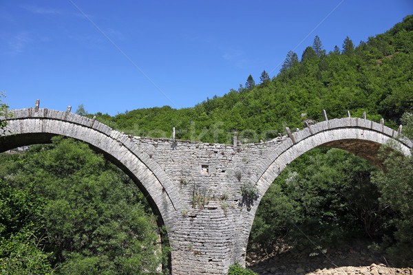 Vieux pierre pont détail Grèce eau Photo stock © goce