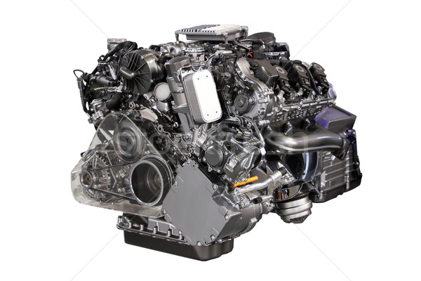 v6 car hybrid engine isolated on white Stock photo © goce