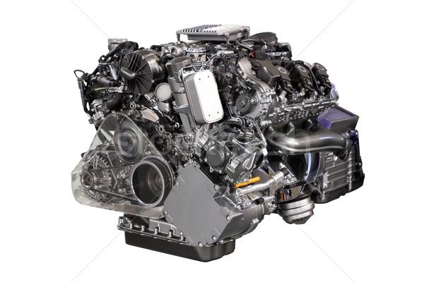 Coche híbrido motor aislado blanco tecnología Foto stock © goce