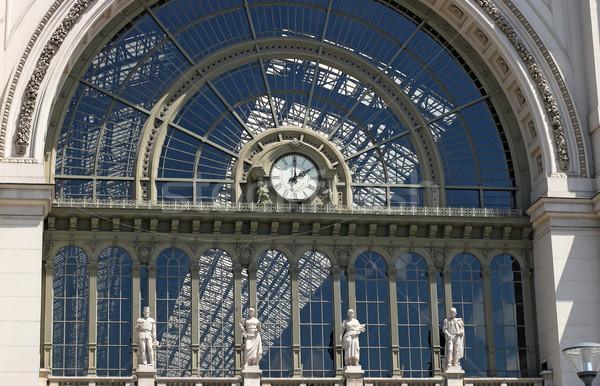 Spoorweg station klok Boedapest Hongarije stedelijke Stockfoto © goce