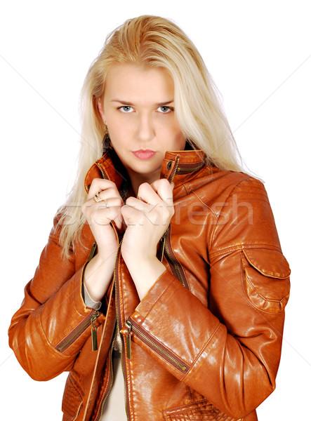 Szépség szőke nő pózol nő fiatal bőr Stock fotó © goce