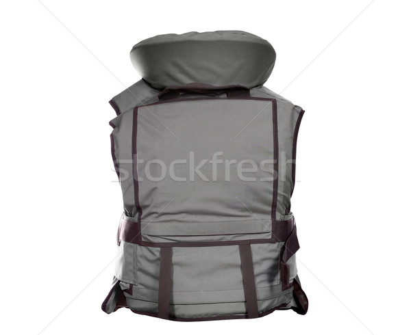 backside of heavy bulletproof vest isolated Stock photo © goce