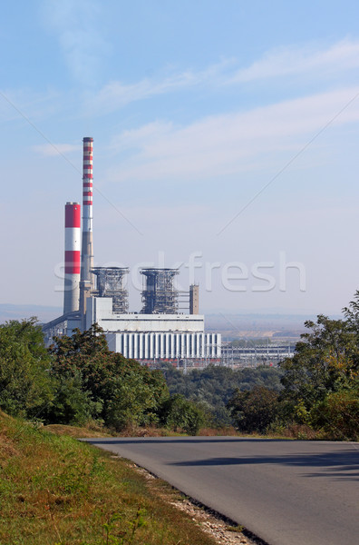 thermal power plant on field Stock photo © goce