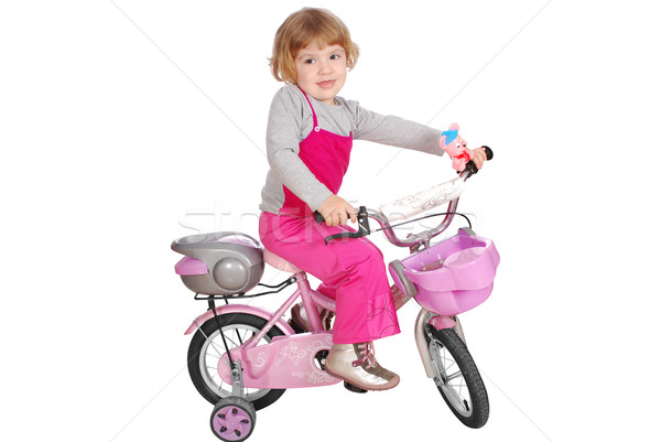 little girl with bicycle Stock photo © goce