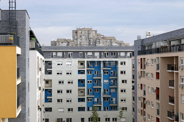 new and old buildings Belgrade Serbia Stock photo © goce