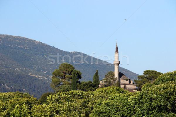 Meczet punkt orientacyjny Grecja Europie niebo wody Zdjęcia stock © goce