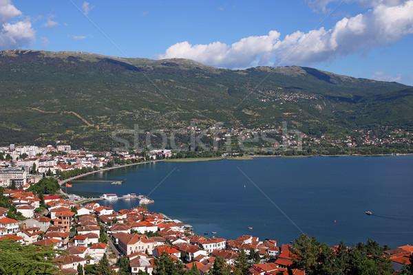 Ohrid lake and city landscape Stock photo © goce